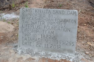 The Water Project: Masaani Community A -  Plaque Dedication