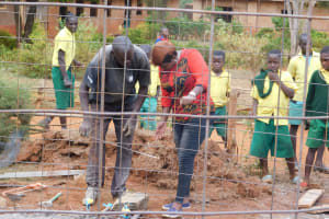 The Water Project: Majengo Primary School -  Field Officer Inspecting The Work