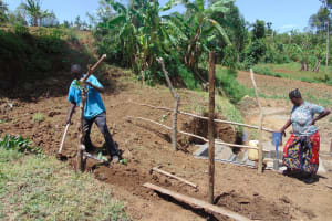 The Water Project: Musango Community, Mwichinga Spring -  Fencing The Catchment Area