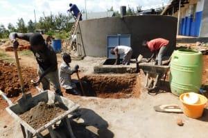 The Water Project: Namasanda Secondary School -  Soak Pit Construction