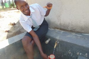 The Water Project: Ebubere Mixed Secondary School -  Flowing Water