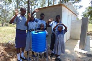 The Water Project: Matungu SDA Special School -  Handwashing Station