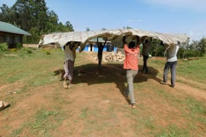 The Water Project: Namasanda Secondary School -  Tank Dome Construction