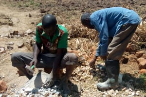 The Water Project: Lukova Community, Wasike Spring -  Spring Construction