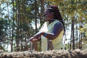 The Water Project: Bojonge Primary School -  Catherine Inspecting Work