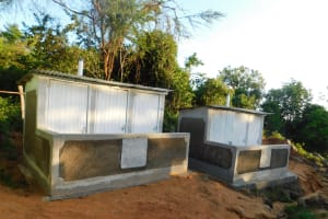 The Water Project: Esibila Secondary School -  Finished Latrines