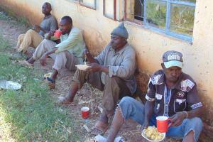 The Water Project: Bojonge Primary School -  Artisans Taking A Lunch Break