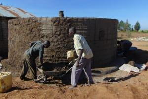 The Water Project: Namakoye Primary School -  Tank Construction