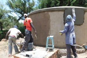 The Water Project: Namasanda Secondary School -  Tank Construction