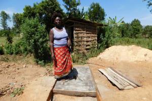 The Water Project: Mukangu Community, Lihungu Spring -  Sanitation Platform