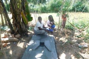 The Water Project: Shitsuvio Community, Shihevi Spring -  A Finished Sanitation Platform