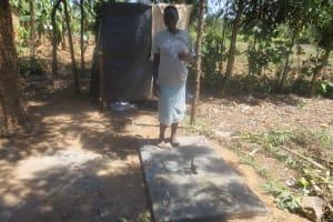 The Water Project: Lukova Community, Wasike Spring -  Sanitation Platform