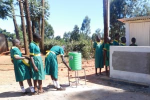 The Water Project: Majengo Primary School -  New Latrines And Handwashing Stations