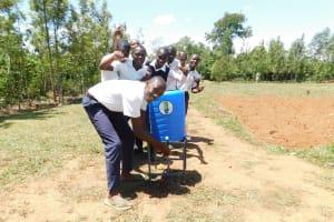 The Water Project: Namasanda Secondary School -  Handwashing Station