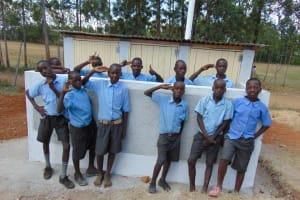 The Water Project: Khabukoshe Primary School -  New Latrines