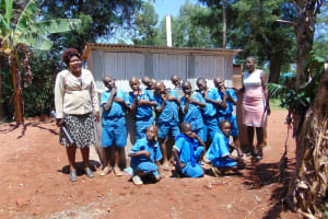 The Water Project: Kegoye Primary School -  Finished Latrines