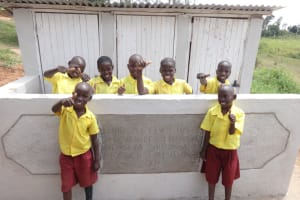 The Water Project: Shibinga Primary School -  Finished Latrines