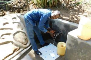 The Water Project: Mukangu Community, Lihungu Spring -  Flowing Water
