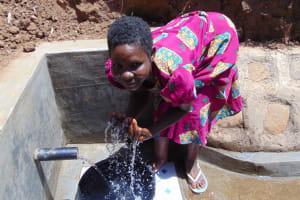 The Water Project: Musango Community, Mwichinga Spring -  Flowing Water