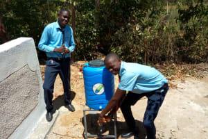 The Water Project: Musango Mixed Secondary School -  Handwashing Station