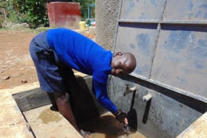 The Water Project: Matungu SDA Special School -  Water Flowing
