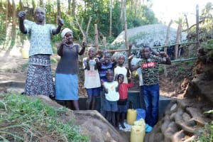 The Water Project: Ngeny Barak Community, Ngeny Barak Spring -  Flowing Water
