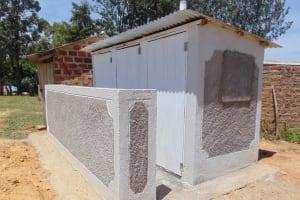 The Water Project: Namakoye Primary School -  Finished Latrines