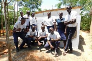The Water Project: Namasanda Secondary School -  Finished Latrines