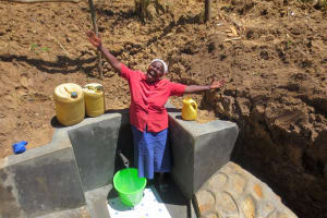 The Water Project: Lukova Community, Wasike Spring -  Water Flowing