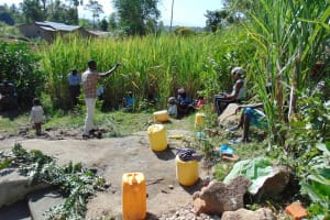 The Water Project: Bukhaywa Community, Asumani Spring -  Spring Care Training