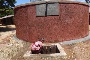 The Water Project: Irobo Primary School -  Flowing Water