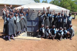 The Water Project: Khabukoshe Primary School -  Water Flowing