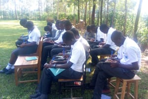 The Water Project: Ebubere Mixed Secondary School -  Taking Notes At Training