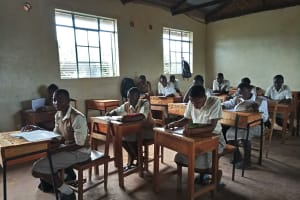 The Water Project: Kimangeti Girls' Secondary School -  Students In Class