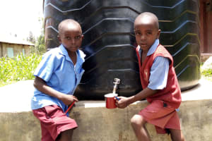 The Water Project: Kipchorwa Primary School -  Small Plastic Tank