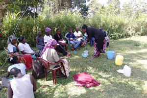 The Water Project: Rosterman Community, Kidiga Spring -  Training