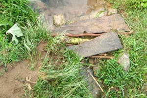 The Water Project: Sasala Community, Kasit Spring -  Current Water Source