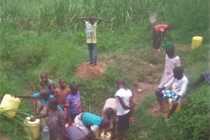 The Water Project: Shikangania Community, Abungana Spring -  Current Water Source