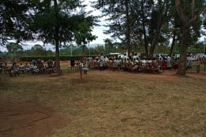The Water Project: Kimangeti Girls' Secondary School -  Students Gathered Outside