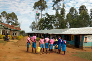 The Water Project: Irovo Orphanage Academy -  Students With Water Containers