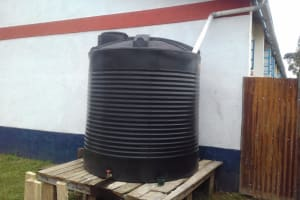 The Water Project: Kamimei Secondary School -  Small Plastic Tank