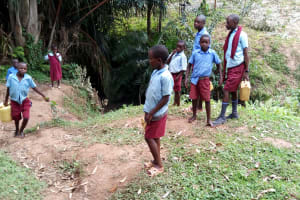 The Water Project: Kipchorwa Primary School -  At The Stream