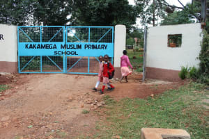 The Water Project: Kakamega Muslim Primary School -  Students Arriving