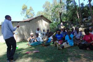 The Water Project: Bukhaywa Community, Asumani Spring -  Dental Hygiene Training