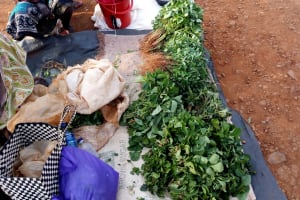 The Water Project: Shamakhokho Community, Imbai Spring -  Women Selling Vegetables From Their Gardens
