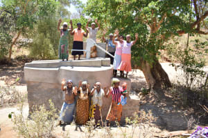 The Water Project: Ilandi Community A -  Happy About The Completed Well