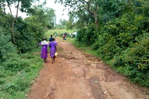 The Water Project: Chiliva Primary School -  Walking To The Spring