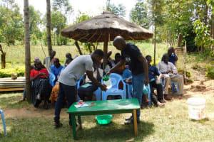 The Water Project: Mukangu Community, Lihungu Spring -  Handwashing Training