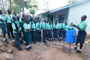The Water Project: Esibila Secondary School -  Handwashing Training