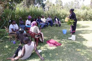 The Water Project: Rosterman Community, Kidiga Spring -  Water Handling Training